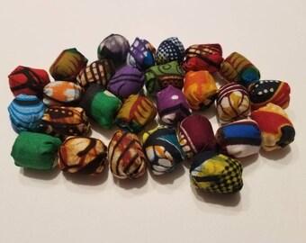 Beautiful  African fabric beads