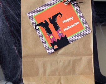 Trick or Treat Halloween Printable Favor Tags Personalized