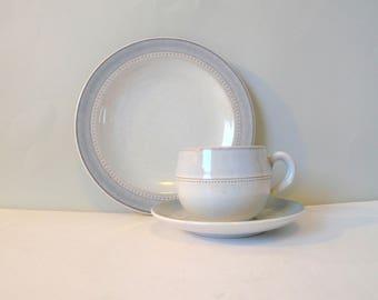 Vintage Hoganas Stoneware trio- Cup Saucer Plate Set SAVOY Höganas Keramik