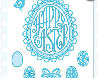 Creative Expressions Sue Wilson Die - Fillables Collection - Happy Easter CED21017, Shaker Card
