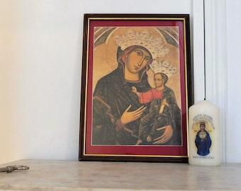 """""""Madonna del Voto"""" frame of the school of Duccio"""