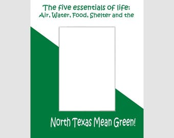 University of North Texas Picture Frame Photo Mat  Unique School Graduation Gift Personalized 5 Essentials Custom