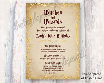 Wizard school invite Etsy