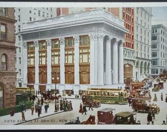 New York City, Fifth Avenue at 34th Street, Waldorf Astoria Hotel, 1920s