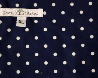 Wetbag, Navy Dots, Cloth Diaper Storage, Diaper Pail Liner, Laundry Bag, Holds 20+ Diapers, Size XL with Handle #XL46