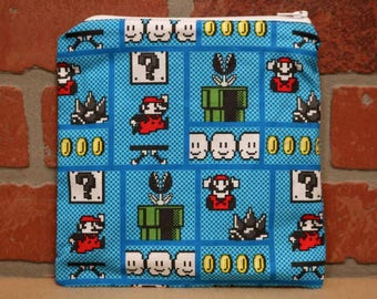 One Sandwich Bag, Mario, Reusable Lunch Bags, Waste-Free Lunch, Machine Washable, Sandwich Sacks, item #SS76