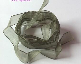 1 m green organza Ribbon