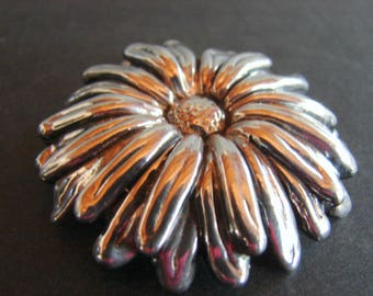 Sterling SUNFLOWER Brooch Marked 550 925