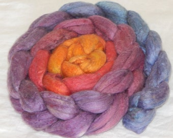 Merino Silk 50/50 Fiber, Sunrise at the Harbor 4.16 ounces, 118 grams