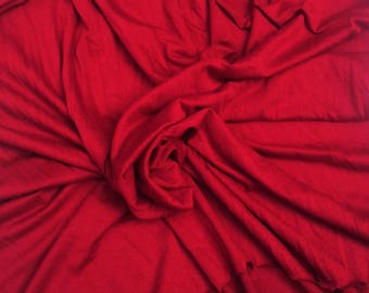Viscose Rayon Spandex Fabric Jersey Knit by the Yard Scarlet (Red) 8 oz. Made in the USA