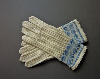 Winter Gloves Fingerless Gloves Hand Knit Gloves White Gloves Knitted Gloves Wool Gloves Gifts Womens Gloves Fingerless Gloves