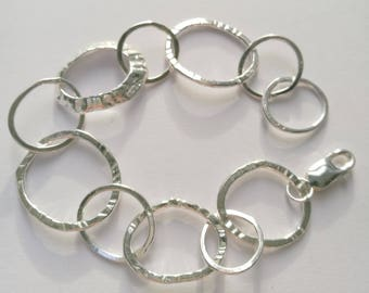 Sterling Silver Loopy Limpet bracelet handmade by Sharon McSwiney St Ives