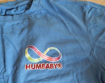 Vintage Bamboo XL Men's Humbaby collectable T-shirt Light Blue