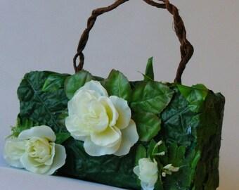 "Bouquet bag ""Mathilde"" fake flowers handbag."