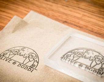 Custom Rubber Stamp - 2.5 Inches wide with proportional height