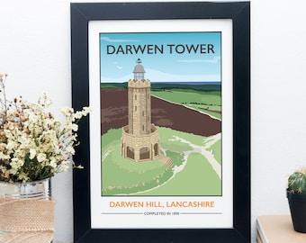Darwen Tower, Lancashire Print