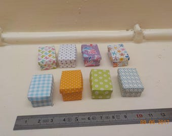 Box miniature 1/12th - 8 designs to choose from