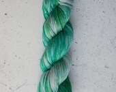 Smokin' Grasshopper, Hand Dyed Yarn, Knitting Yarn, Superwash Merino Wool, 100g/231 yards