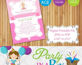 Baptism Invitation DIY Printable Digital File