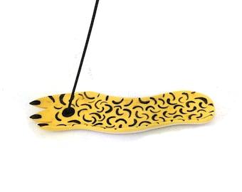 Leopard paw incense holder