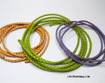 1 x cord braided leather color choices
