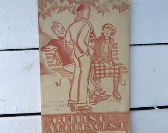 Vintage Booklet 1933 Guiding the Adolescent US Department of Labor Government Publication Childrens Bureau Vintage Parents Guide Teen Age