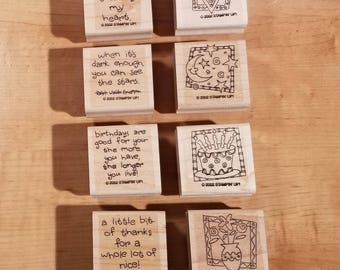 Stampin' Up Retired Set - 2002 Quick & Cute - Rubber Stamp Set of 8 - RS-052