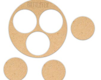 Wargaming Movement Bases 4 Pack - 3x25mm Suitable for Test of Honour - Terrain - Kensei war gaming - By Battletex