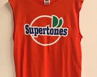 Supertones Tee is an Orange T- shirt