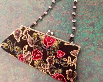 Vintage Beaded Velvet Bag