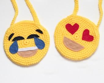 Emoji Inspired purses/ Girls Purses/ Purse/ Crocheted purse/ Girls gifts/ Emoji gift/