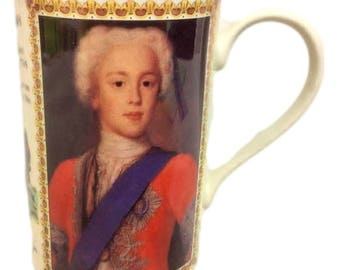 Vintage Dunoon Stoneware Coffee Mug, Ruth Boden, Kings and Queens, Scotland, Bonnie Prince Charlie
