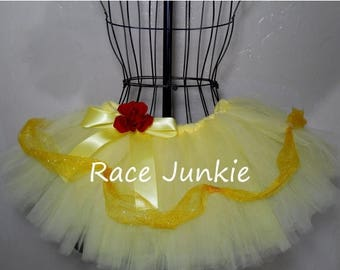 Christmas in July Sale Southern Belle Yellow Princess. ADULT Running Tutu. Princess Costume. Halloween Costume. Cosplay.