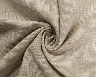 Beige 55'' Linen Cotton Stripe Fabric by the Yard - Style 3271