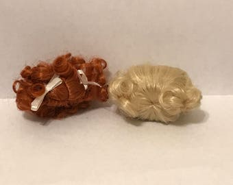 "Dollhouse Miniature 4"" to 5"" Doll Wig"