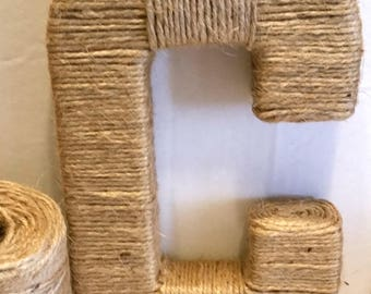 Yarn Wrapped Letters | Jute Wrapped Letters | Custom Wrapped Letters | Wreath Letters