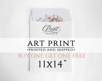"Print And Ship - 11x14"" Art Print - Shipped Print - Printed Wall Art - Printed Digital Art - High Quality Prints - Printed Artwork - Gift"