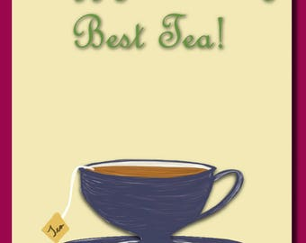 Best-Tea Birthday Card
