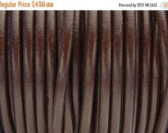 """30% Off 4.5MM Round Leather Cord - Chocolate Brown -   1M/39.4"""""""