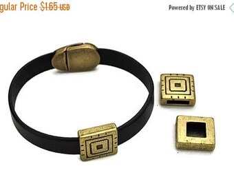 30% Off 10MM BOHO Slider - Antique Brass Qty.1