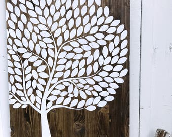 Wood Sign Tree   Guestbook Alternative   Wedding Sign   Wedding Decor