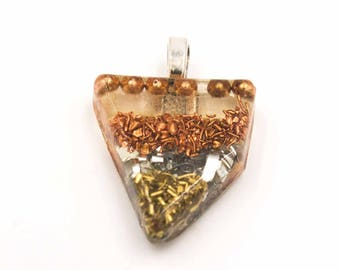 Aura Clearing Metal Resin Pendant for Energy Cleansing Necklace