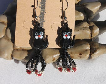 Black Cat Halloween Earring Fashion Jewelry Dangle Drop Earrings