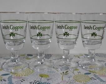 4 Italian Made Irish Coffee Glasses