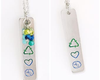 Save the Earth necklace hypoallergenic