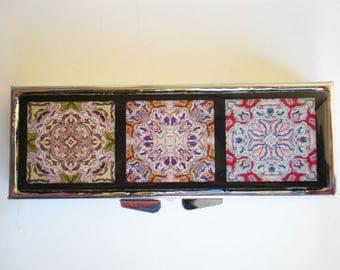 Pill box - Pill container - Mint case -  Art pill box - Gift idea - Mandala - Mosaic tiles pill box - Mandala pill box