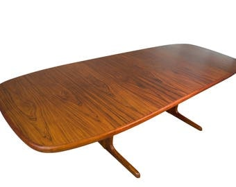 Skovby 9ft Rosewood Dining Table Mid Century Danish Modern