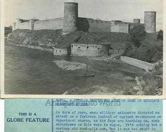 Narva fortress castle Estonia antique photo