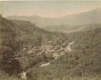 Kiga+Village+Hakone+Japan+antique+hand+tinted+albumen+photo
