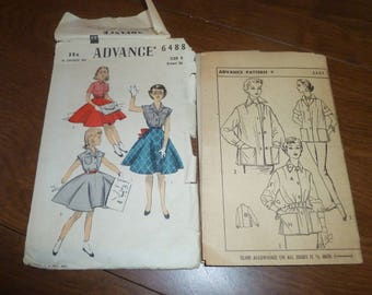 Two Advance Brand Patterns and Sewing Helpers